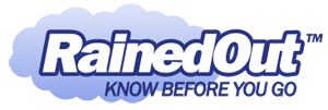 "RainedOut logo with the title ""Know Before You Go"""